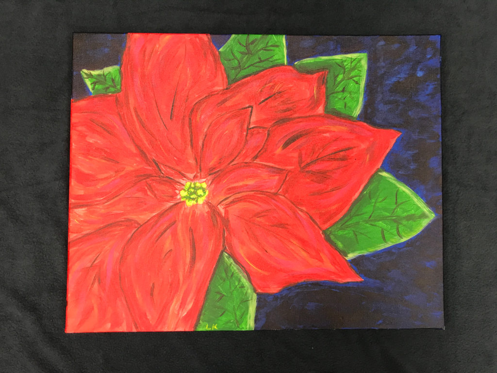 A beautiful flower painting that will be offered as a painting class.